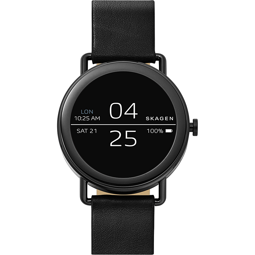 Skagen Falster Black Leather Smartwatch Black - Skagen Wearable Technology