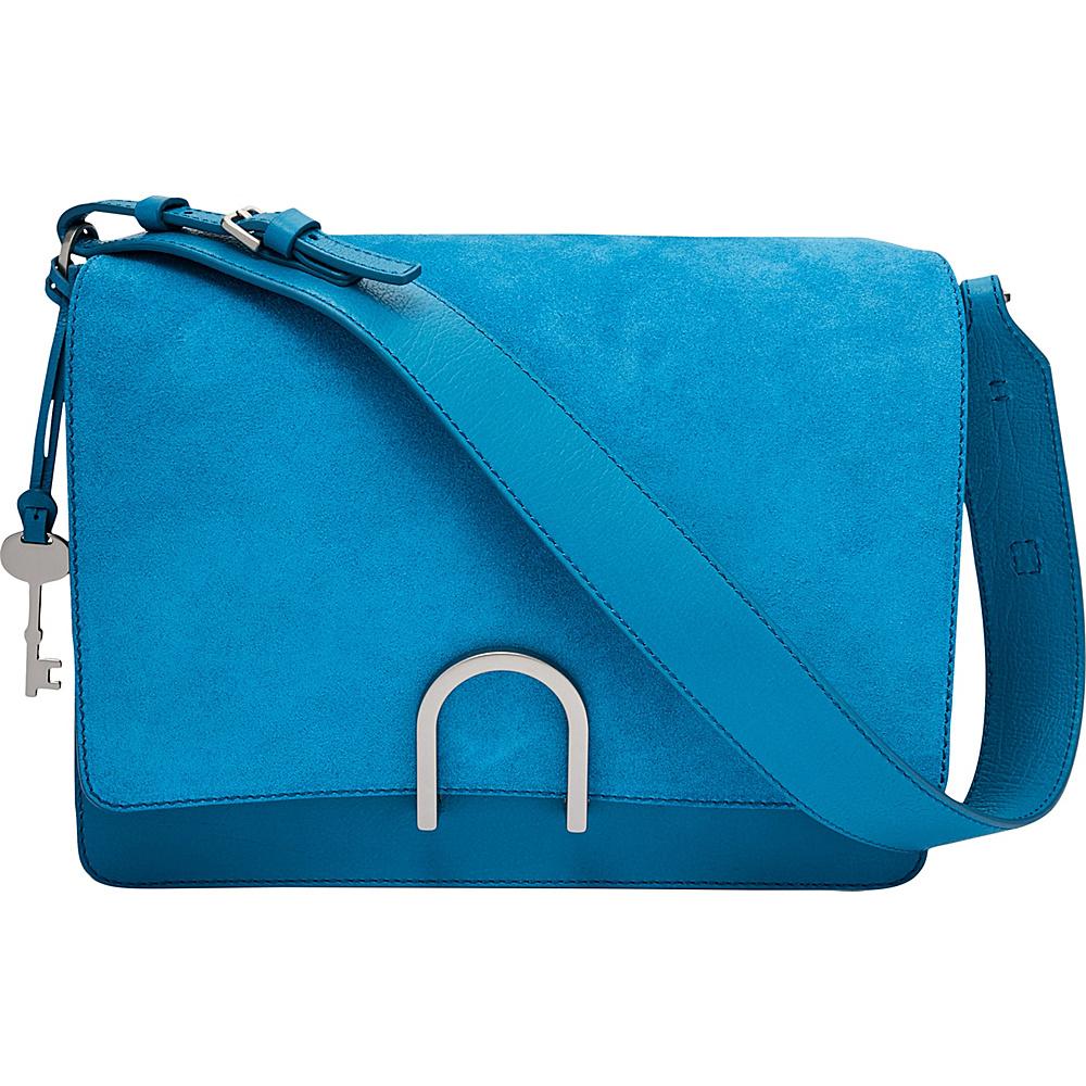 Fossil Finley Shoulder Bag Cerulean - Fossil Leather Handbags - Handbags, Leather Handbags