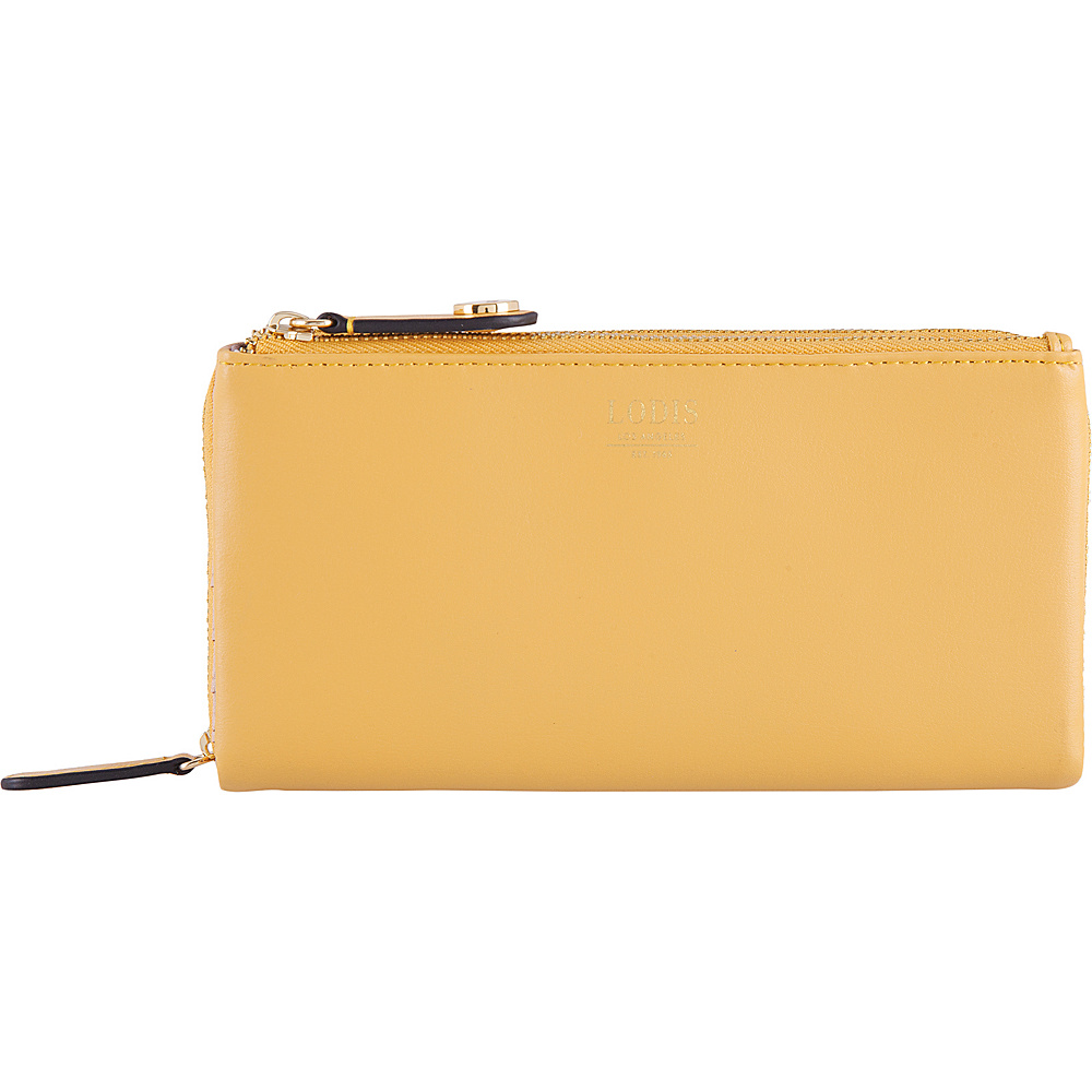 Lodis Laguna RFID Dana Double Zip Yellow - Lodis Womens Wallets - Women's SLG, Women's Wallets