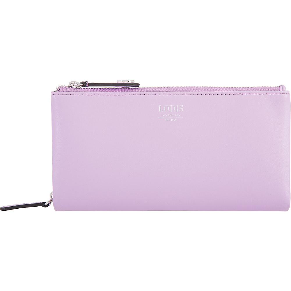 Lodis Laguna RFID Dana Double Zip Lavender - Lodis Womens Wallets - Women's SLG, Women's Wallets
