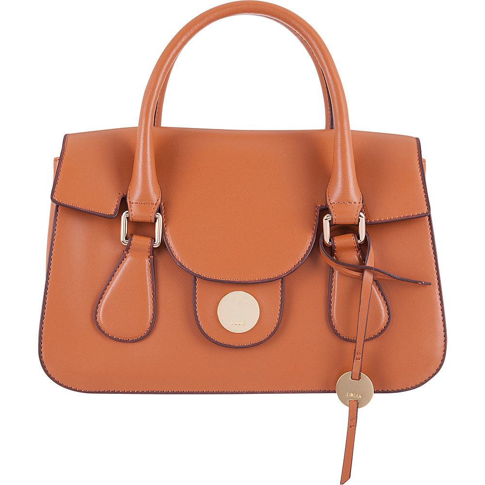 Lodis Rodeo RFID Kesha Flap Satchel Toffee - Lodis Leather Handbags - Handbags, Leather Handbags