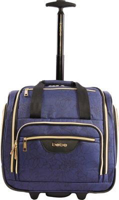 BEBE Valentina Wheeled Under the Seat Carry-On Bag Navy Floral - BEBE Softside Carry-On