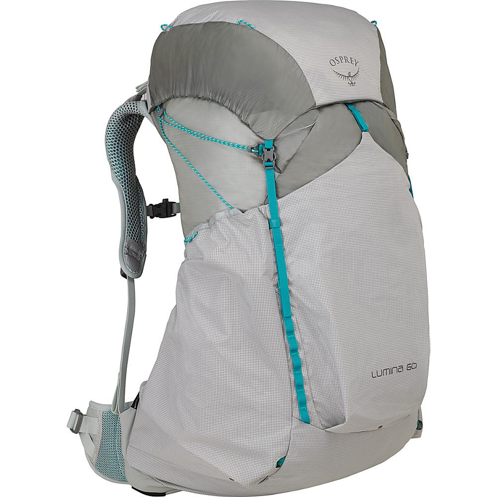 Osprey Lumina 60 Hiking Backpack Cyan Silver – SM - Osprey Backpacking Packs - Outdoor, Backpacking Packs