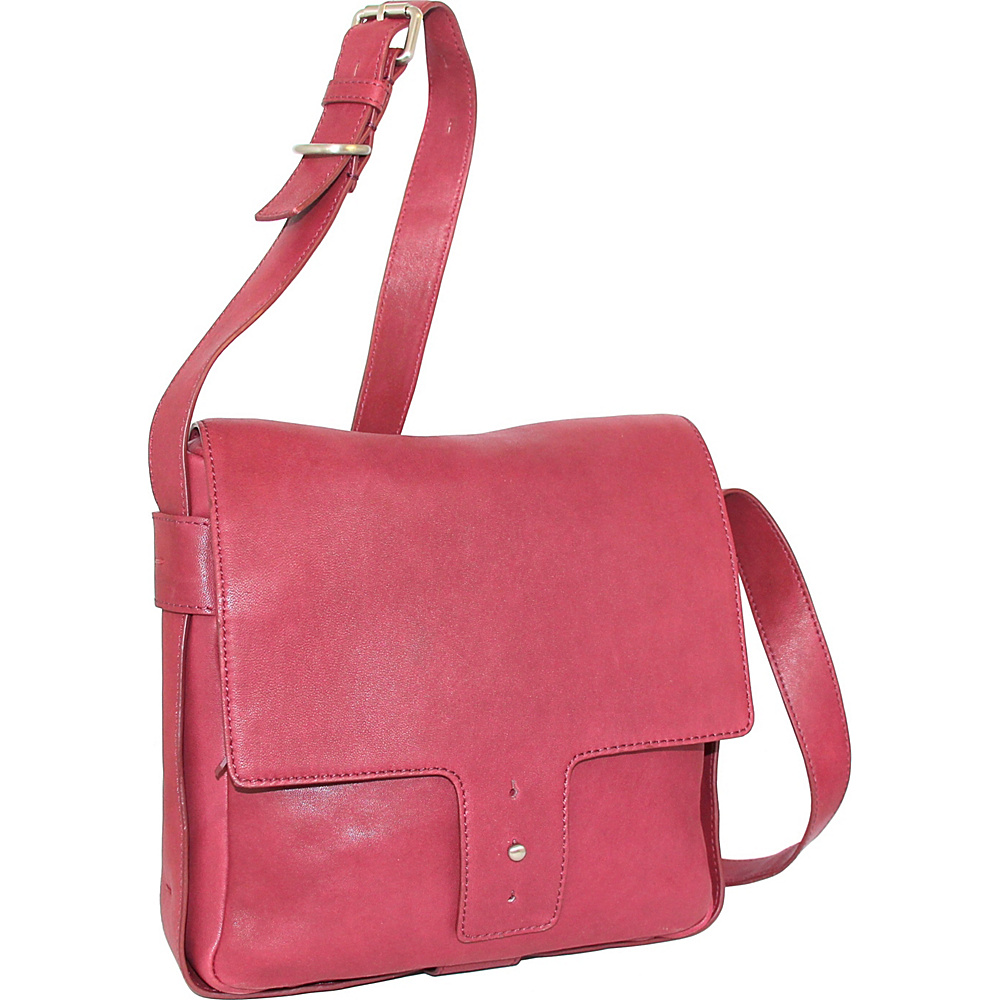 Nino Bossi Carmen Crossbody Fuchsia - Nino Bossi Leather Handbags - Handbags, Leather Handbags