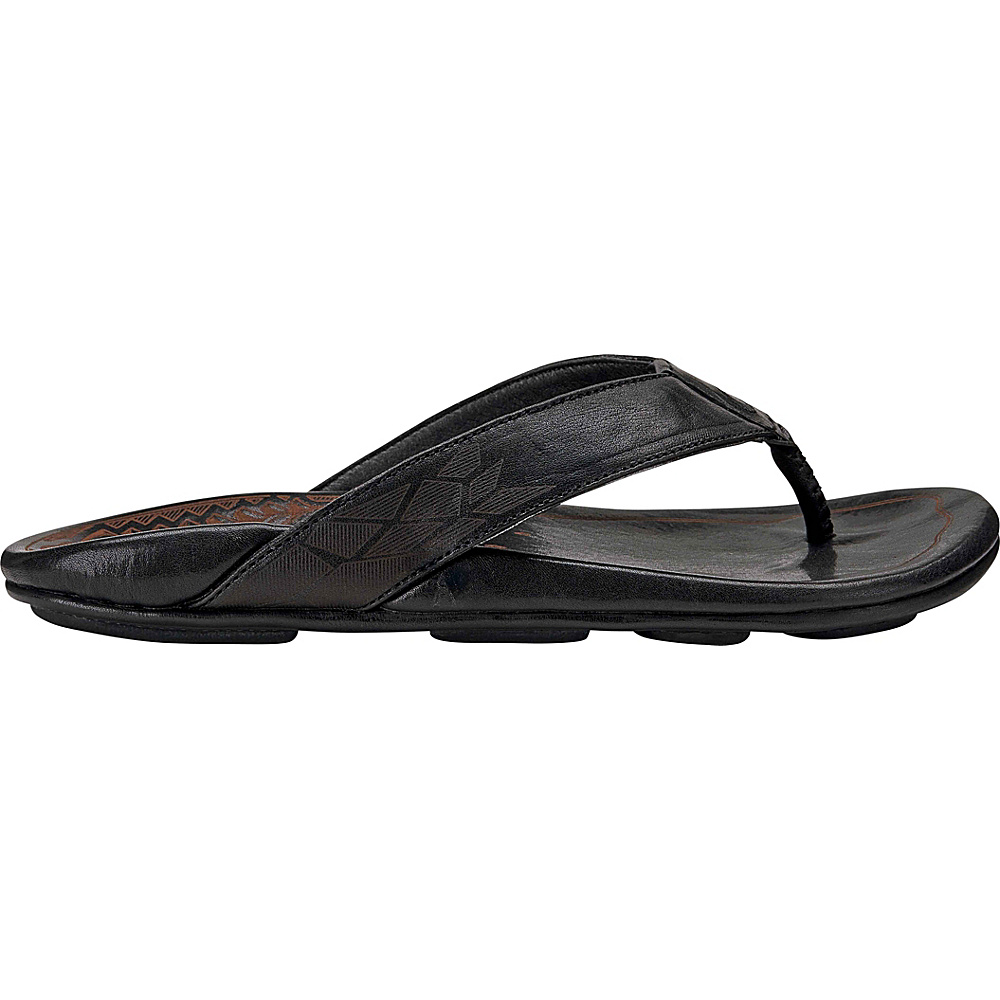 OluKai Mens Kulia Sandal 7 - Black/Black - OluKai Mens Footwear - Apparel & Footwear, Men's Footwear