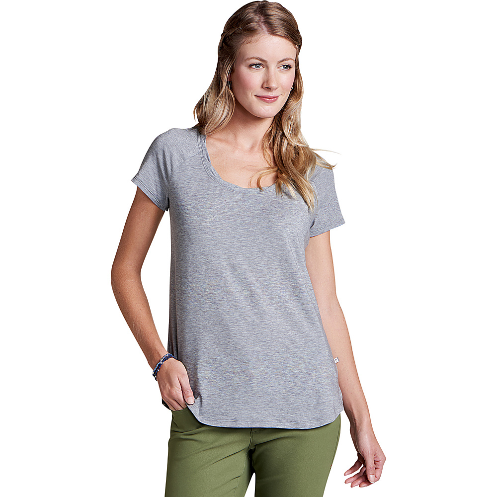 Toad & Co Womens Swifty Scoop Neck Tee XS - Heather Grey - Toad & Co Womens Apparel - Apparel & Footwear, Women's Apparel