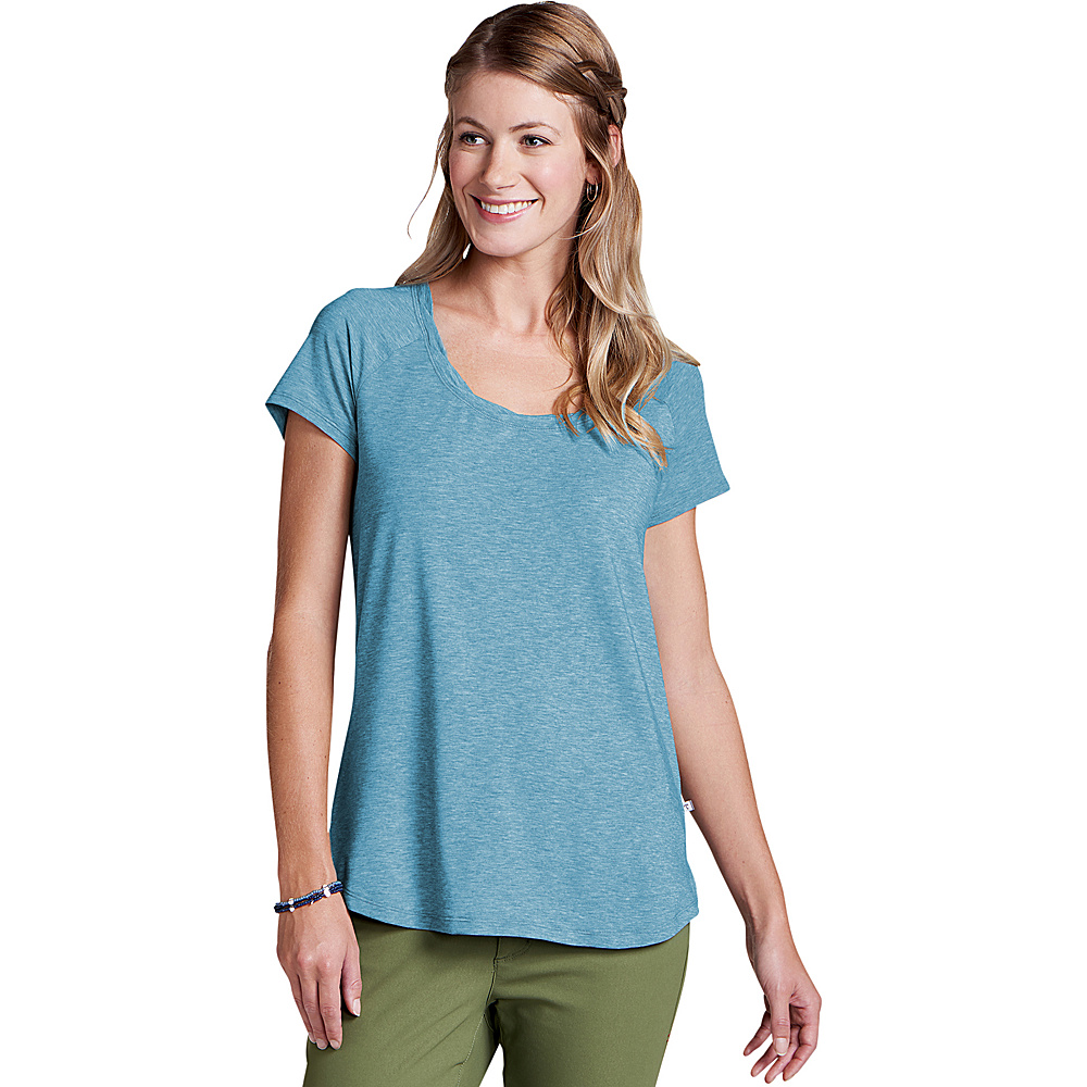 Toad & Co Womens Swifty Scoop Neck Tee XS - Deepwater Heather - Toad & Co Womens Apparel - Apparel & Footwear, Women's Apparel