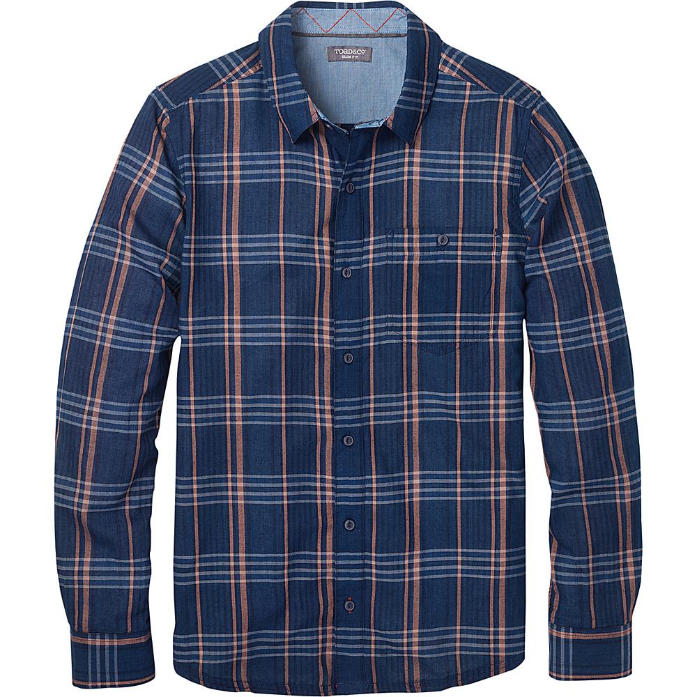 Toad & Co Mens Beckmen Long Sleeve Slim Shirt L - Dark Indigo - Toad & Co Mens Apparel - Apparel & Footwear, Men's Apparel
