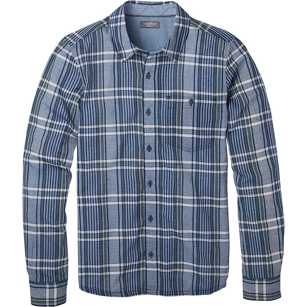 Toad & Co Mens Beckmen Long Sleeve Slim Shirt XL - Medium Indigo - Toad & Co Mens Apparel - Apparel & Footwear, Men's Apparel