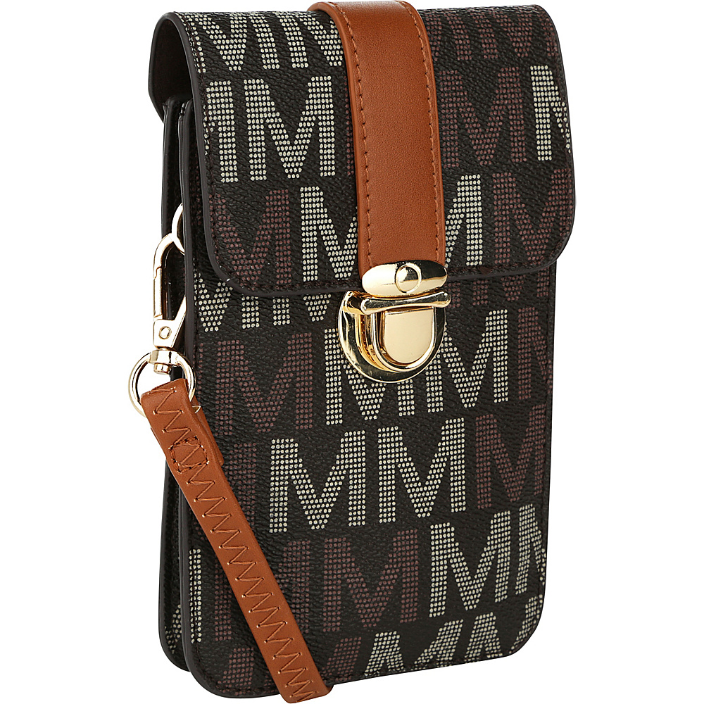MKF Collection by Mia K. Farrow Lulu M Signature Phone Wallet/Crossbody Brown - MKF Collection by Mia K. Farrow Manmade Handbags - Handbags, Manmade Handbags