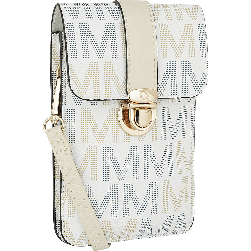 MKF Collection by Mia K. Farrow Lulu M Signature Phone Wallet/Crossbody White - MKF Collection by Mia K. Farrow Manmade Handbags - Handbags, Manmade Handbags