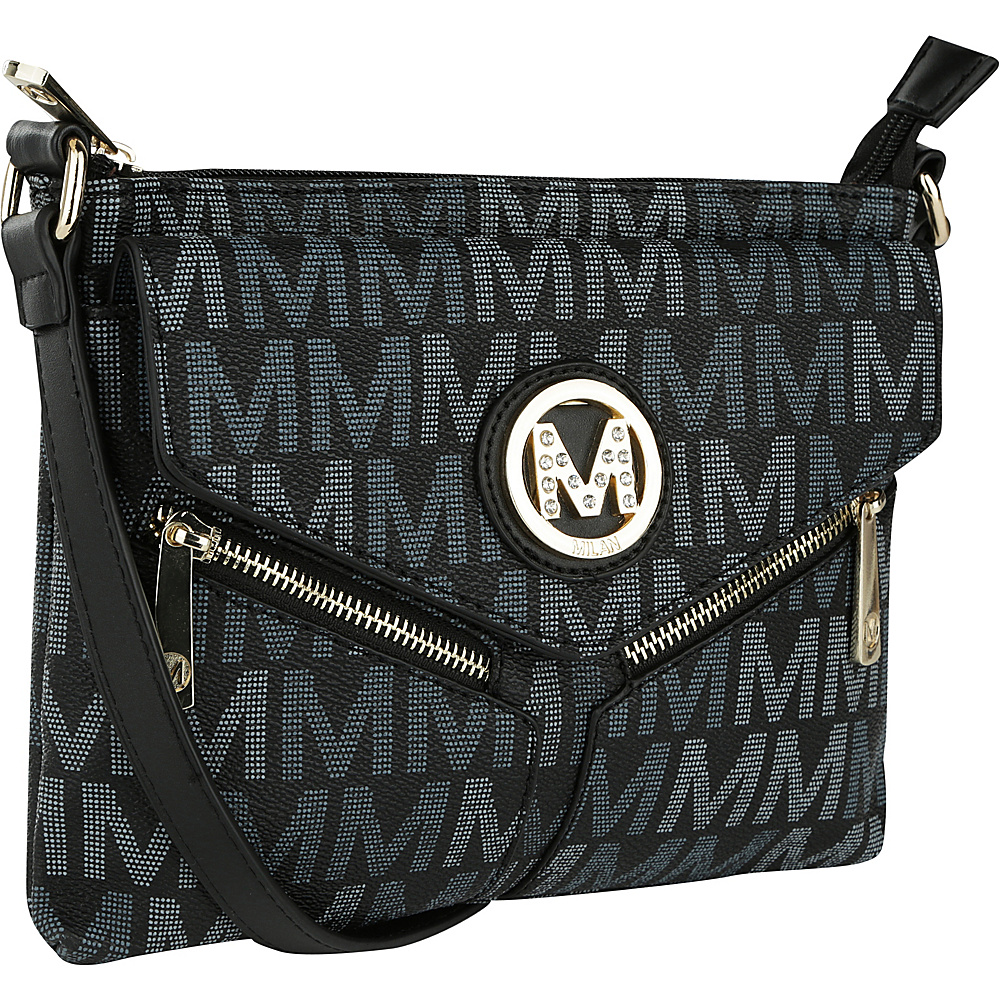 MKF Collection by Mia K. Farrow Nathy Milan M Signature Crossbody Black - MKF Collection by Mia K. Farrow Manmade Handbags - Handbags, Manmade Handbags