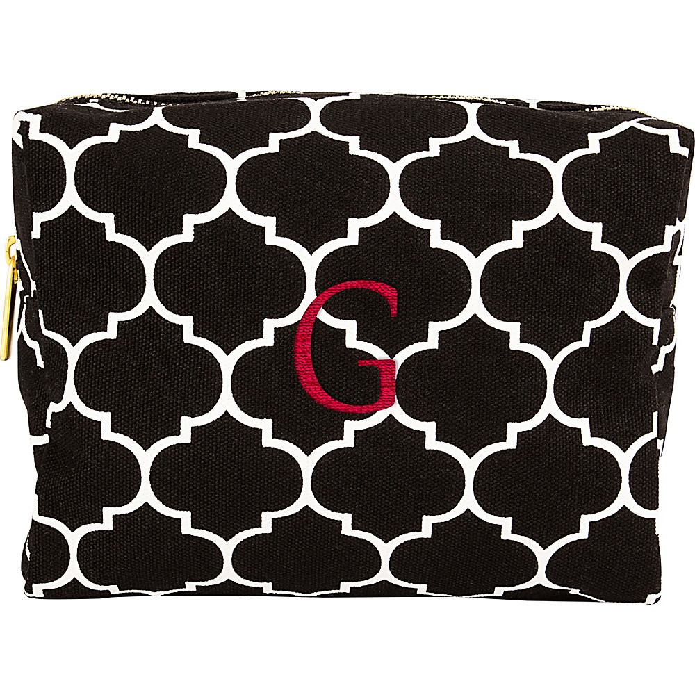 Cathys Concepts Monogram Cosmetic Bag Black - G - Cathys Concepts Toiletry Kits - Travel Accessories, Toiletry Kits