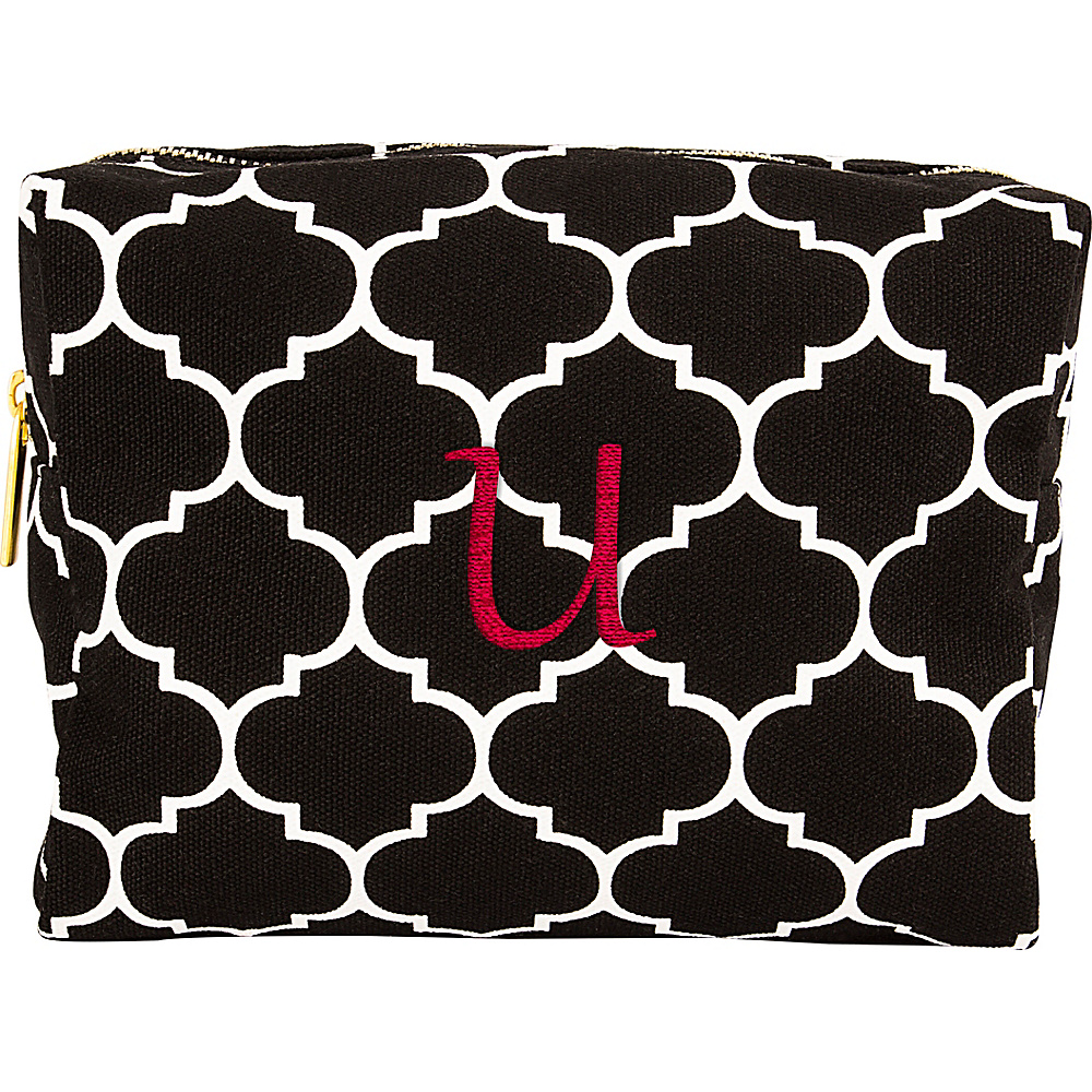 Cathys Concepts Monogram Cosmetic Bag Black - U - Cathys Concepts Toiletry Kits - Travel Accessories, Toiletry Kits