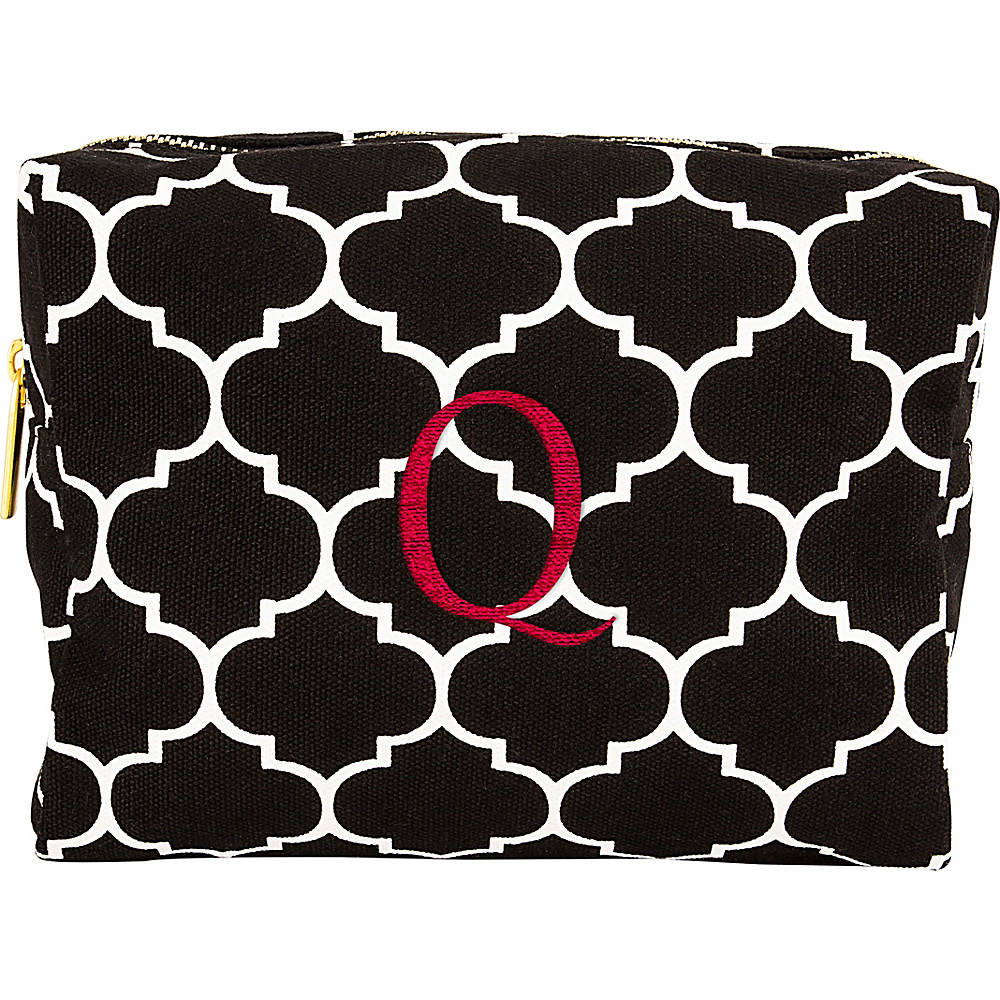 Cathys Concepts Monogram Cosmetic Bag Black - Q - Cathys Concepts Toiletry Kits - Travel Accessories, Toiletry Kits