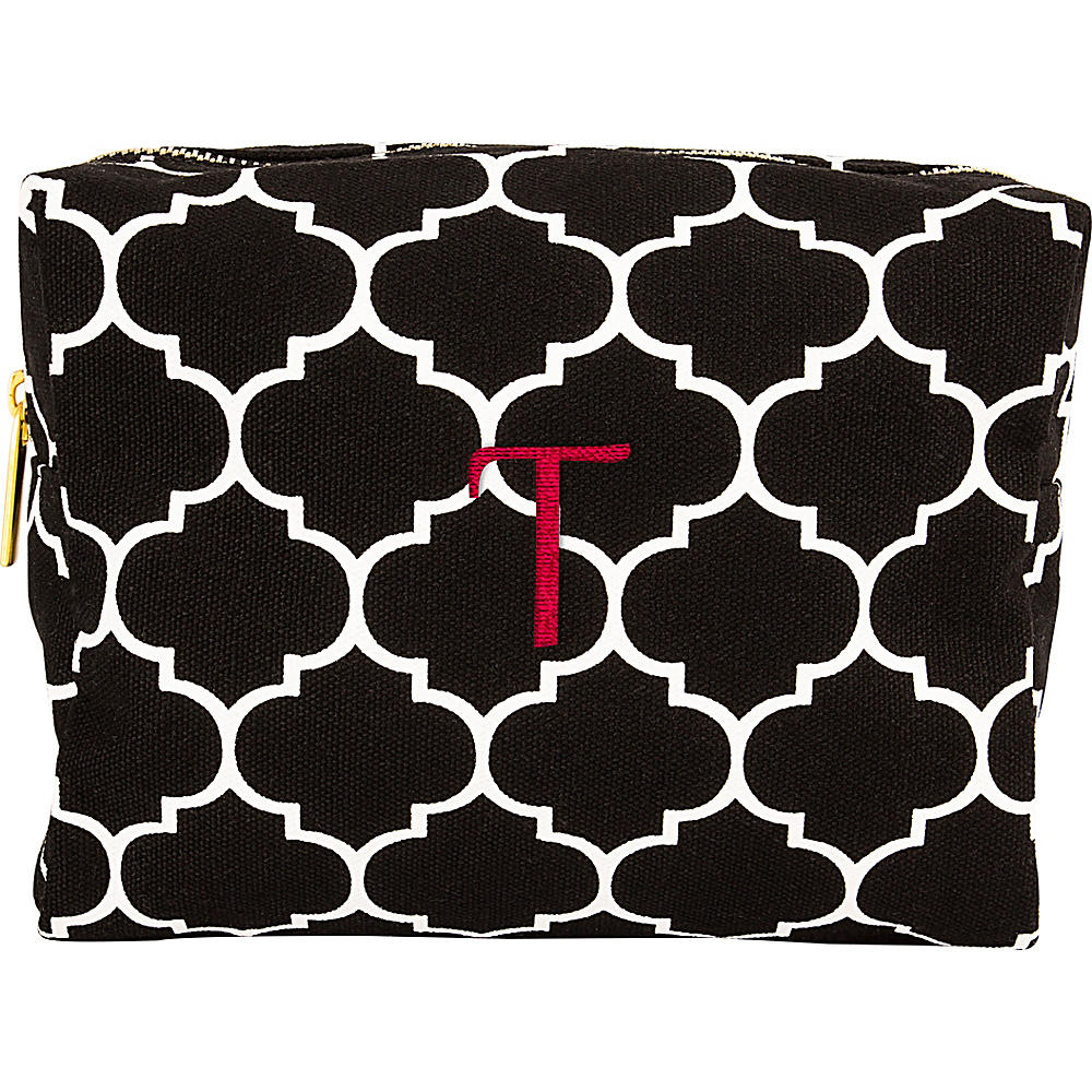 Cathys Concepts Monogram Cosmetic Bag Black - T - Cathys Concepts Toiletry Kits - Travel Accessories, Toiletry Kits