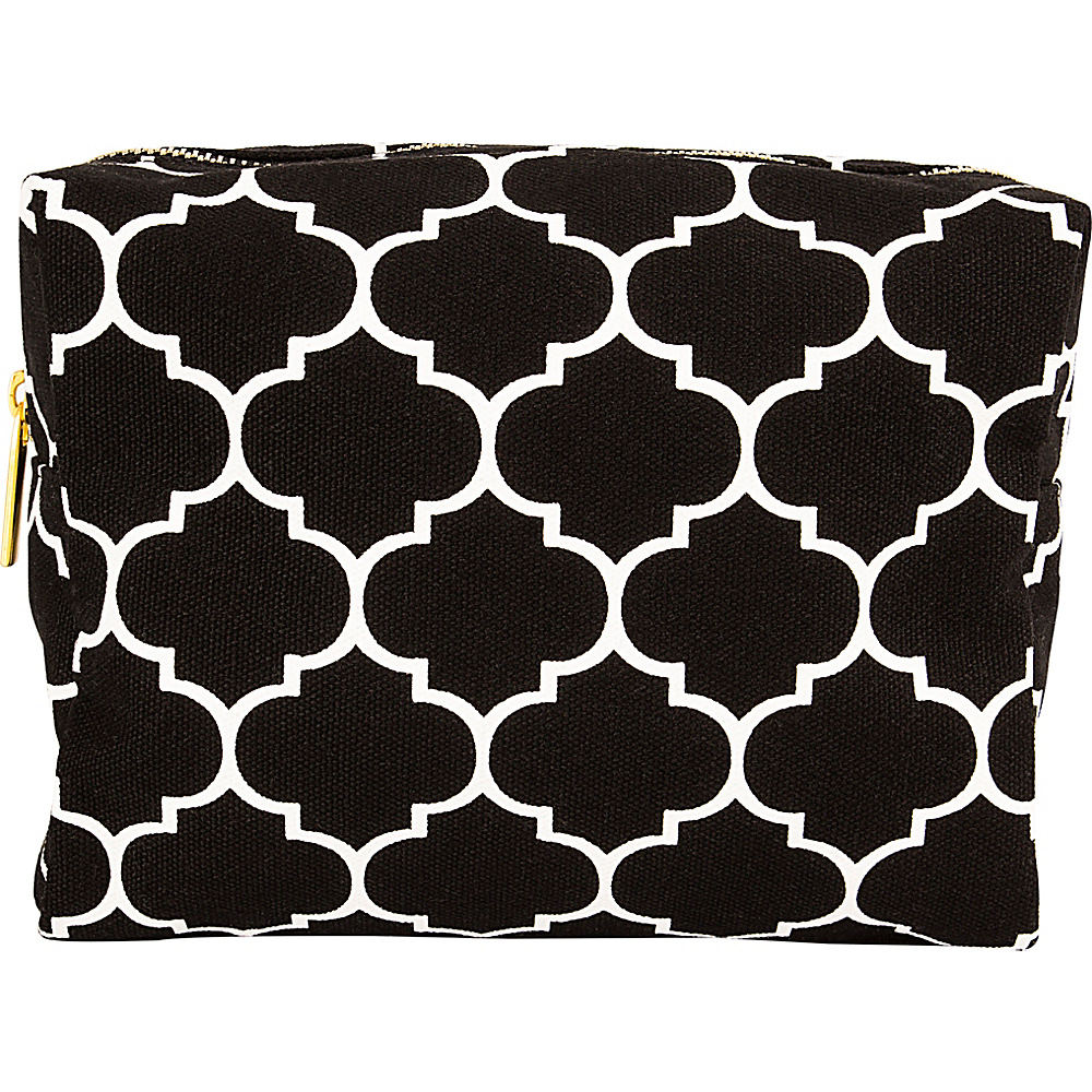 Cathys Concepts Monogram Cosmetic Bag Black Plain - Cathys Concepts Toiletry Kits - Travel Accessories, Toiletry Kits