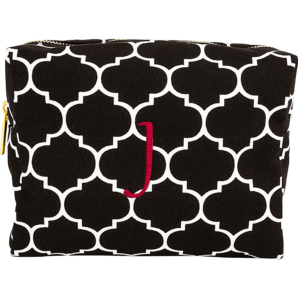 Cathys Concepts Monogram Cosmetic Bag Black - J - Cathys Concepts Toiletry Kits - Travel Accessories, Toiletry Kits