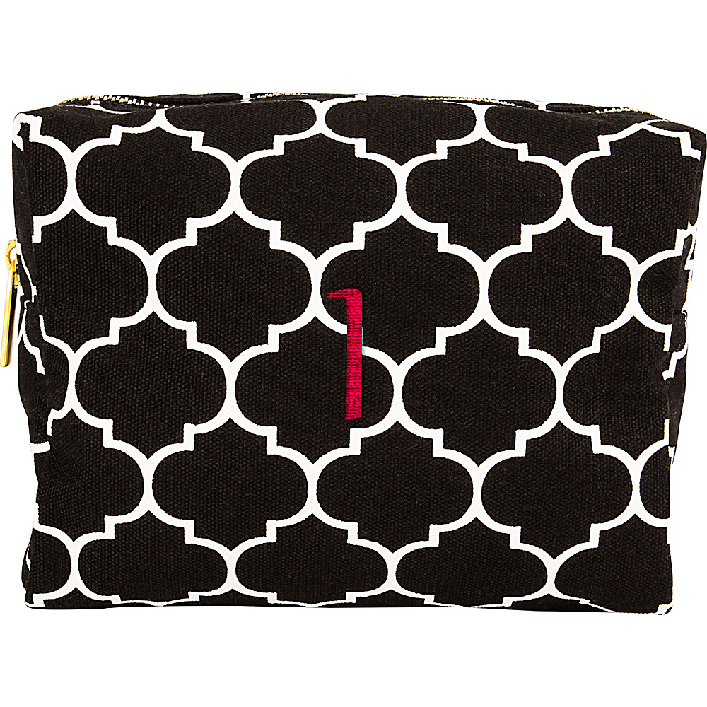 Cathys Concepts Monogram Cosmetic Bag Black - I - Cathys Concepts Toiletry Kits - Travel Accessories, Toiletry Kits