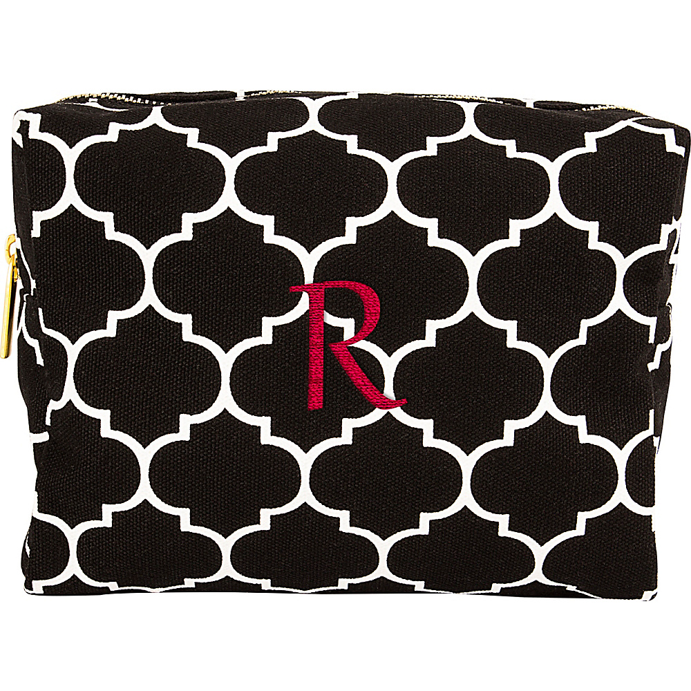 Cathys Concepts Monogram Cosmetic Bag Black - R - Cathys Concepts Toiletry Kits - Travel Accessories, Toiletry Kits