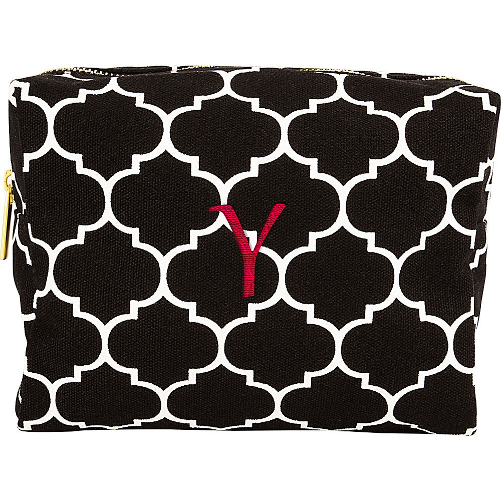 Cathys Concepts Monogram Cosmetic Bag Black - Y - Cathys Concepts Toiletry Kits - Travel Accessories, Toiletry Kits