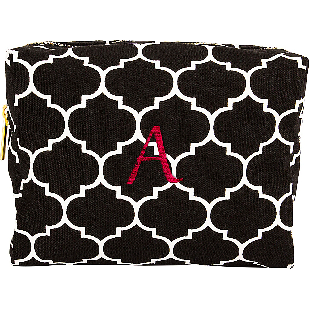 Cathys Concepts Monogram Cosmetic Bag Black - A - Cathys Concepts Toiletry Kits - Travel Accessories, Toiletry Kits