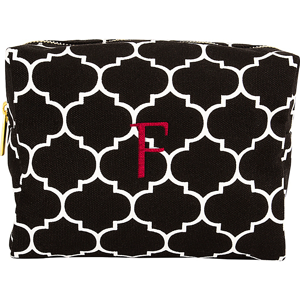 Cathys Concepts Monogram Cosmetic Bag Black - F - Cathys Concepts Toiletry Kits - Travel Accessories, Toiletry Kits