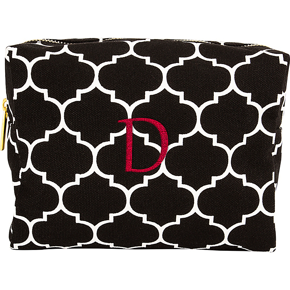 Cathys Concepts Monogram Cosmetic Bag Black - D - Cathys Concepts Toiletry Kits - Travel Accessories, Toiletry Kits