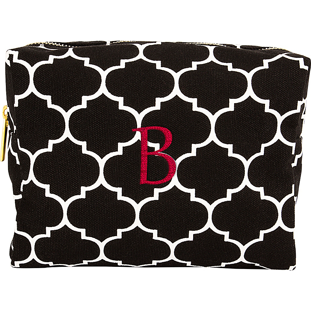 Cathys Concepts Monogram Cosmetic Bag Black - B - Cathys Concepts Toiletry Kits - Travel Accessories, Toiletry Kits
