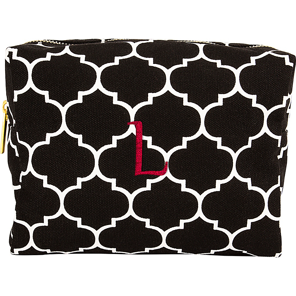Cathys Concepts Monogram Cosmetic Bag Black - L - Cathys Concepts Toiletry Kits - Travel Accessories, Toiletry Kits