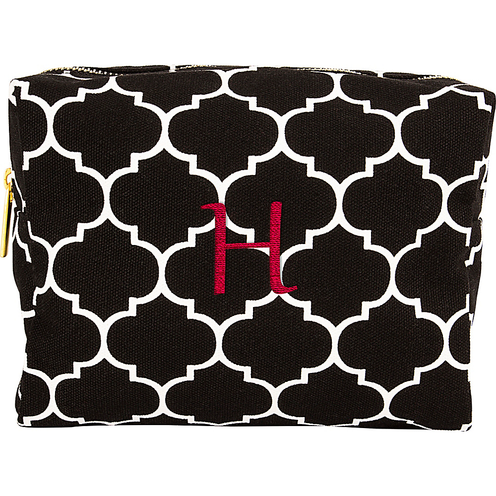 Cathys Concepts Monogram Cosmetic Bag Black - H - Cathys Concepts Toiletry Kits - Travel Accessories, Toiletry Kits