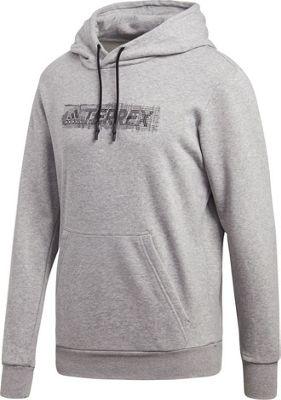 adidas outdoor Mens Logo Hoodie S - Medium Grey Heather - adidas outdoor Men's Apparel