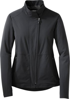 Image of Outdoor Research Womens Prologue Moto Jacket L - Black - Outdoor Research Women's Apparel