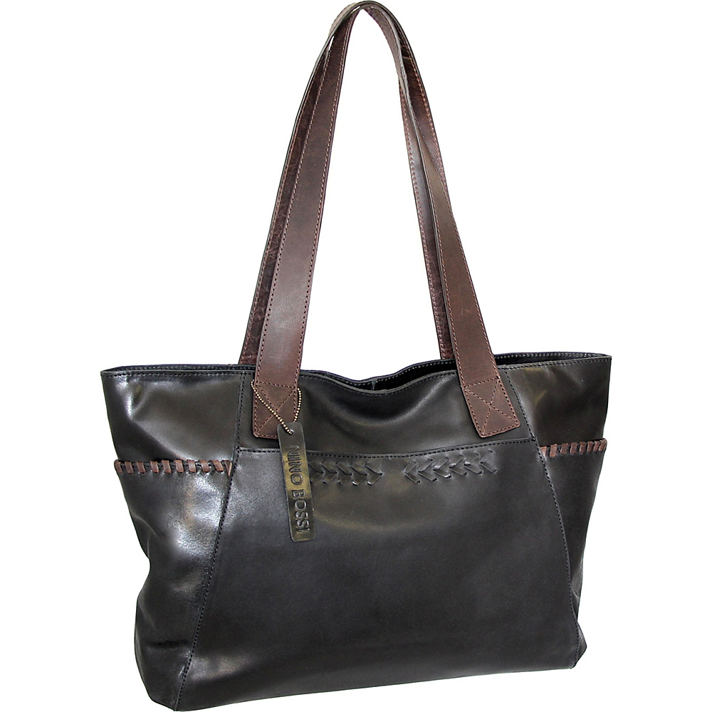 Nino Bossi Halley Tote Black - Nino Bossi Leather Handbags - Handbags, Leather Handbags