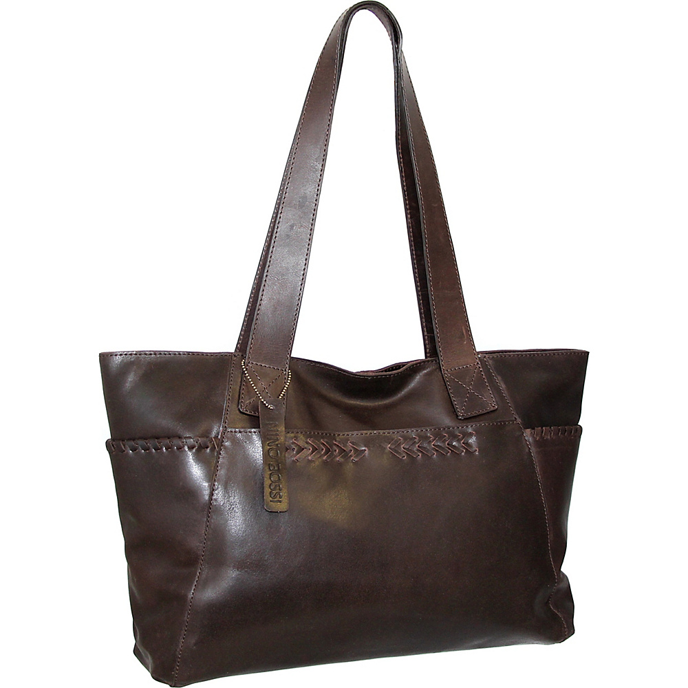 Nino Bossi Halley Tote Brown - Nino Bossi Leather Handbags - Handbags, Leather Handbags