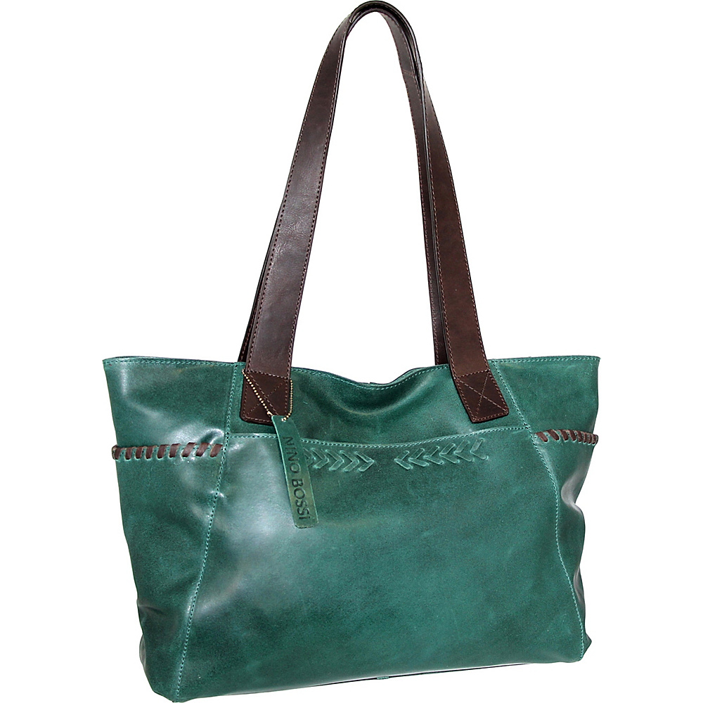 Nino Bossi Halley Tote Green - Nino Bossi Leather Handbags - Handbags, Leather Handbags