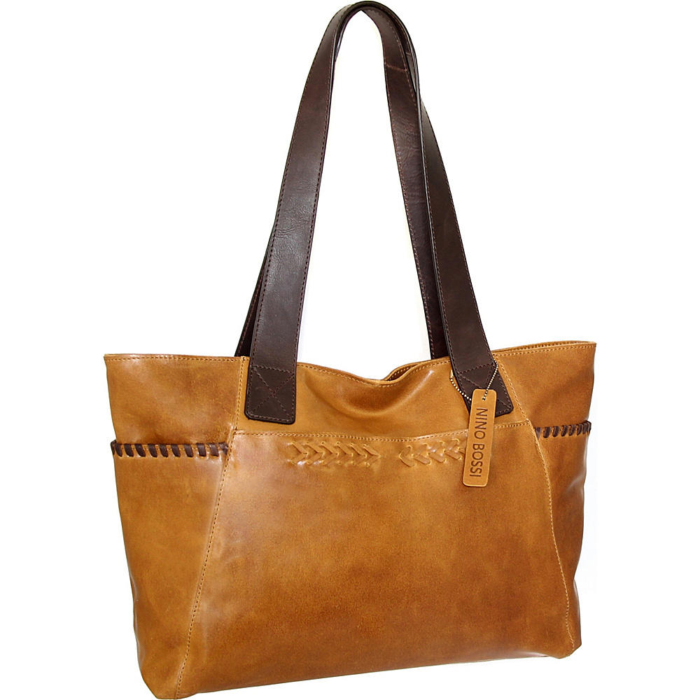Nino Bossi Halley Tote Saddle - Nino Bossi Leather Handbags - Handbags, Leather Handbags