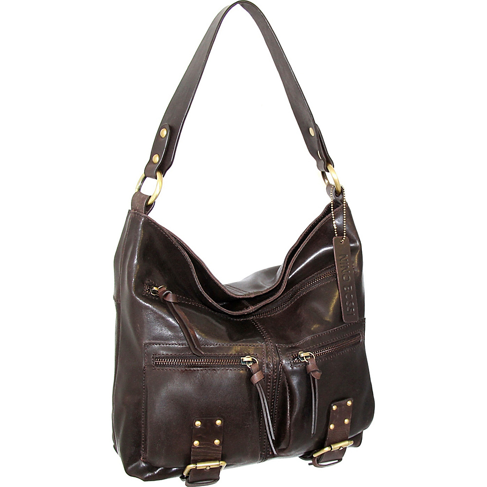 Nino Bossi Daphne Shoulder Bag Brown - Nino Bossi Leather Handbags - Handbags, Leather Handbags