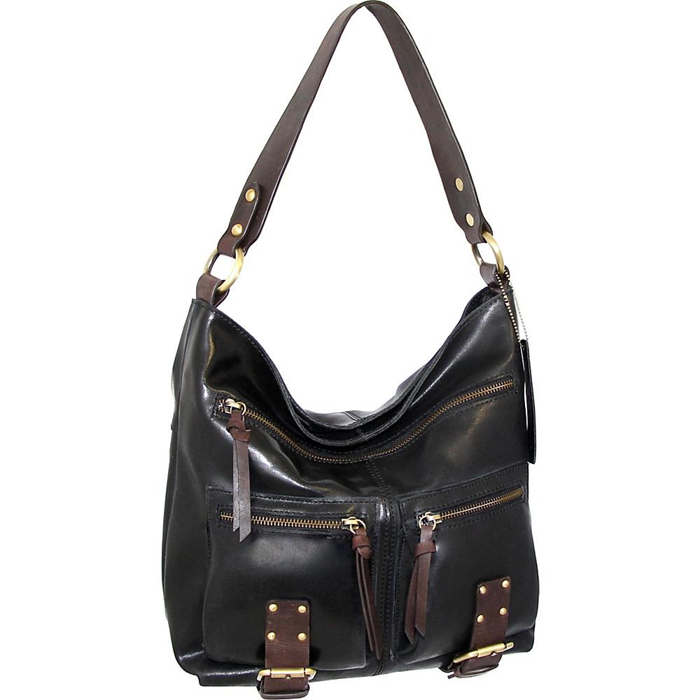 Nino Bossi Daphne Shoulder Bag Black - Nino Bossi Leather Handbags - Handbags, Leather Handbags