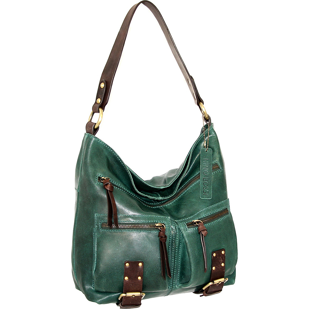Nino Bossi Daphne Shoulder Bag Green - Nino Bossi Leather Handbags - Handbags, Leather Handbags