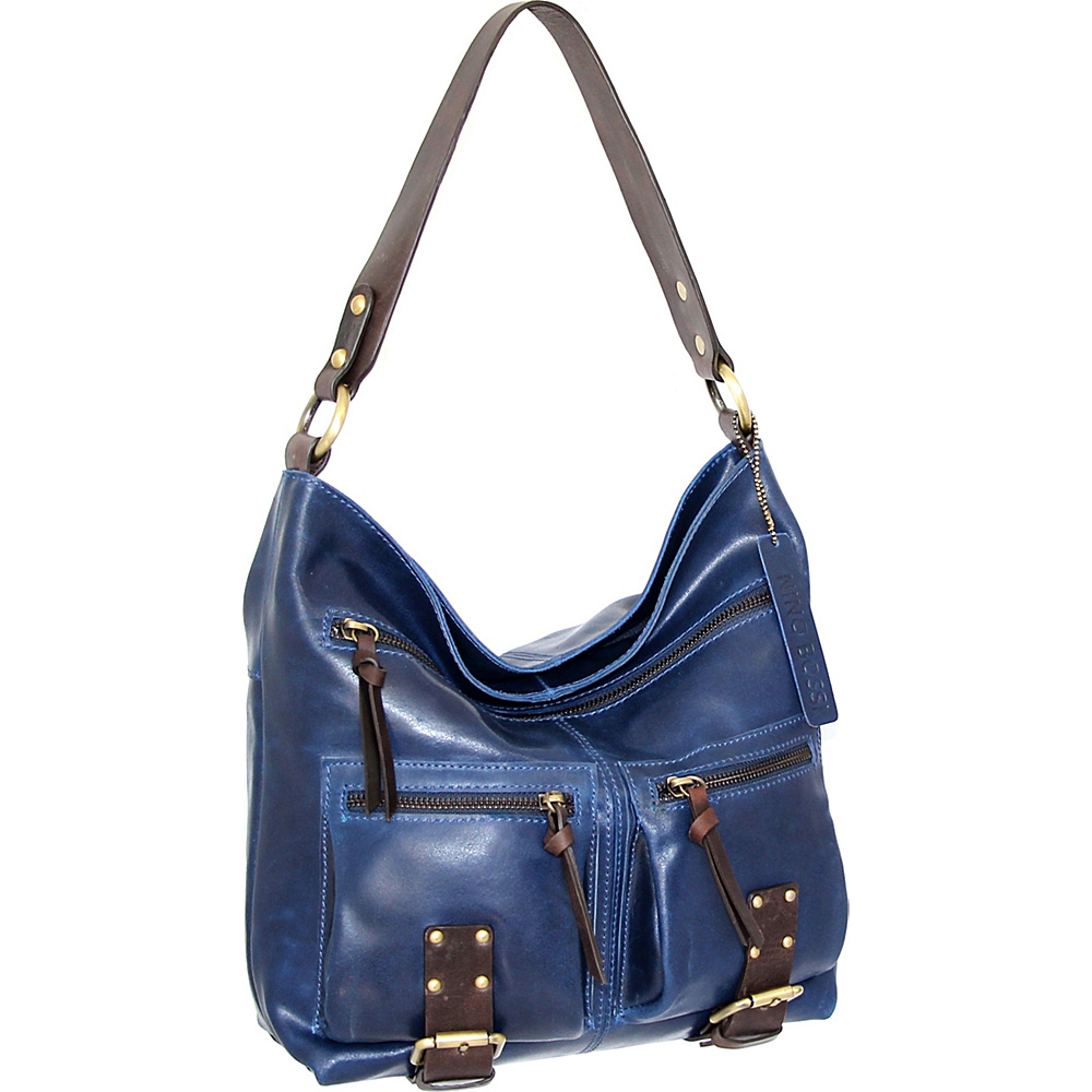 Nino Bossi Daphne Shoulder Bag Denim - Nino Bossi Leather Handbags - Handbags, Leather Handbags