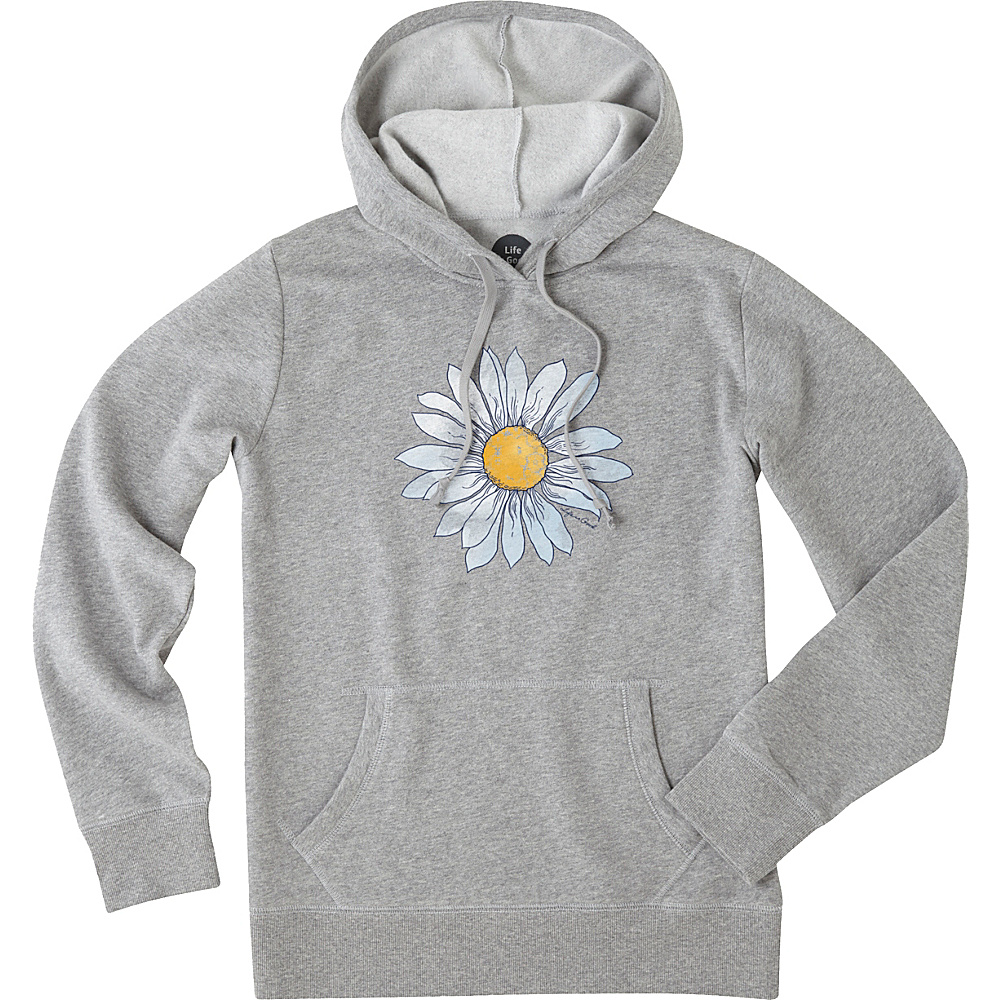 Life is good Womens Go To Hoodie XS - Heather Gray Daisy - Life is good Womens Apparel - Apparel & Footwear, Women's Apparel