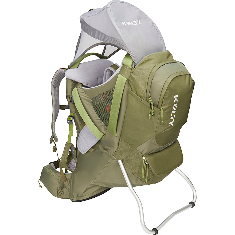 Kelty Journey PerfectFit Signature Backpack Child Carrier Moss Green - Kelty Baby Carriers Journey PerfectFit Signature Backpack Child Carrier Moss Green. Completely redesigned for 2018 with feedback from parents around the country, the new Kelty Child carriers offer best in class features and comfort. Developed with a pediatric specialist, our 5-point safety harness features a wide seat base and adjustable foot stirrups to offer proper positioning of the childs legs for health and all-day comfort.