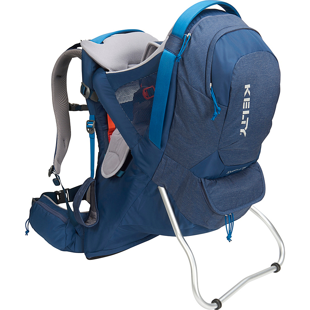 Kelty Journey PerfectFit Signature Backpack Child Carrier Insignia Blue - Kelty Baby Carriers Journey PerfectFit Signature Backpack Child Carrier Insignia Blue. Completely redesigned for 2018 with feedback from parents around the country, the new Kelty Child carriers offer best in class features and comfort. Developed with a pediatric specialist, our 5-point safety harness features a wide seat base and adjustable foot stirrups to offer proper positioning of the childs legs for health and all-day comfort.