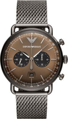 Emporio Armani Men's Chronograph Gunmetal Stainless Steel...