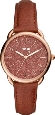 Fossil Tailor Three-Hand Terracotta Leather Watch Brown -...