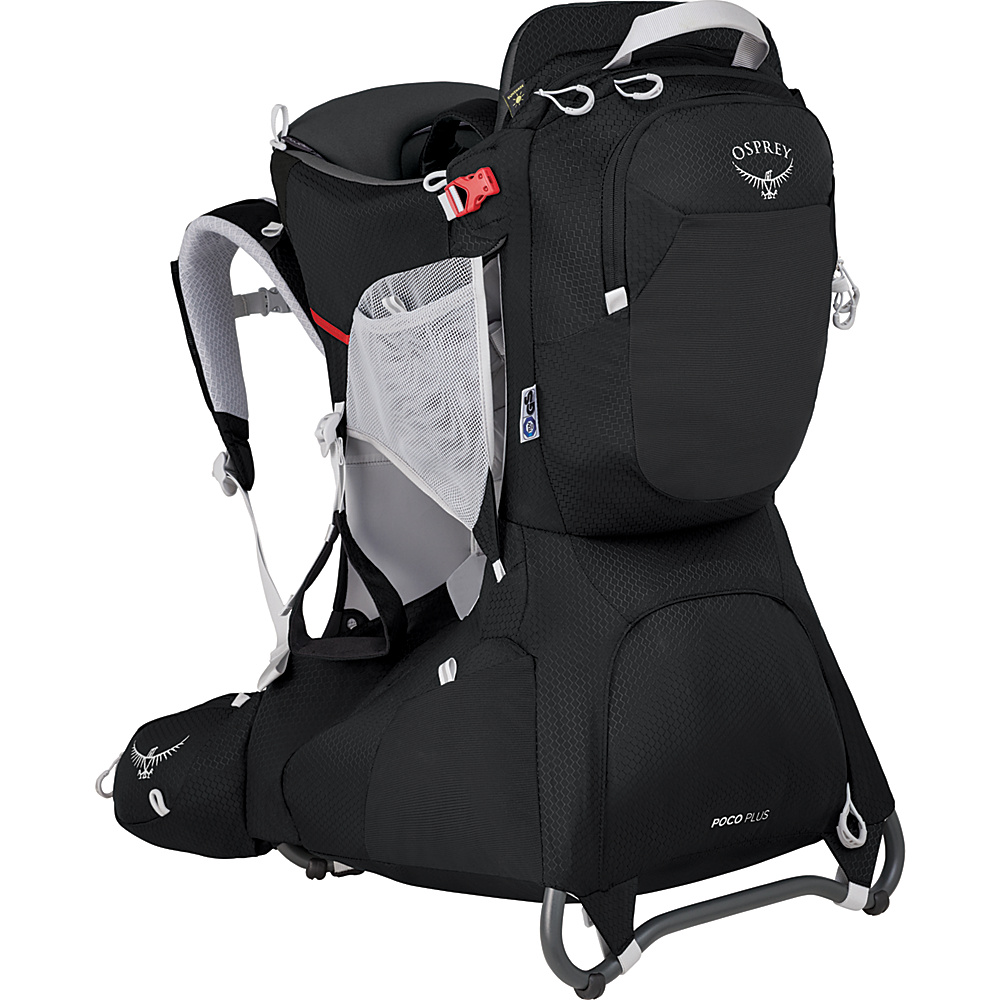 Osprey Poco Plus Child Carrier Starry Black O/S - Osprey Baby Carriers Poco Plus Child Carrier Starry Black O/S. Whether it's a big or a small adventure, the Poco® child carrier nurtures discovery. Carrying a child on your back in a supportive, innately safe and comfortable carrier allows you to have a shared point of view while giving you the freedom and mobility to adventure together. Sharing new experiences with children in this way will engage them and give them a new perspective of the world around them.