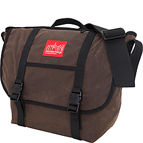 Waxed Canvas Messenger Bag - Medium Dk Brown