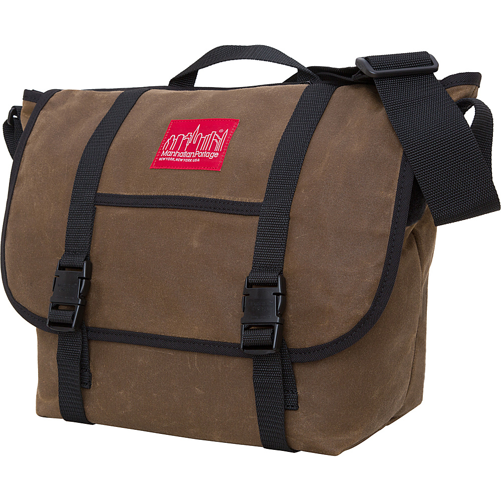 Manhattan Portage Waxed Canvas Messenger Bag Medium Field Tan Manhattan Portage Messenger Bags