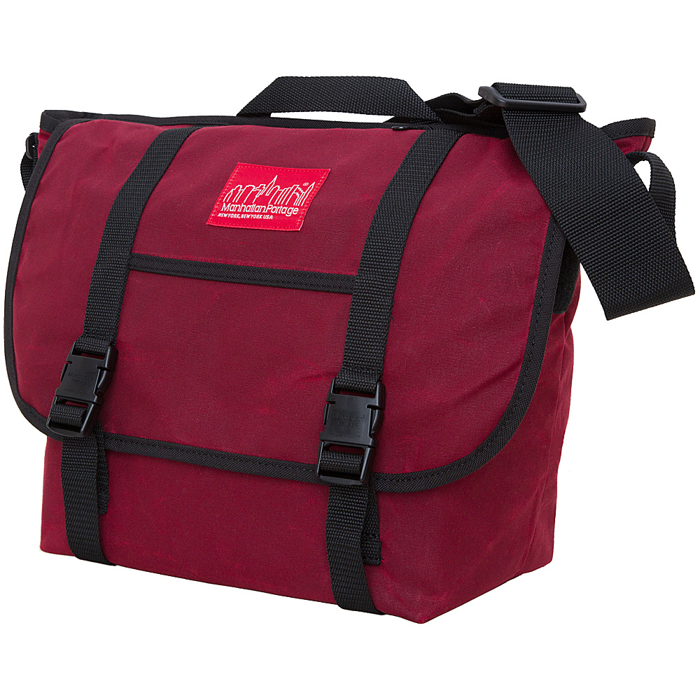Manhattan Portage Waxed Canvas Messenger Bag - Medium Red - Manhattan Portage Messenger Bags - Work Bags & Briefcases, Messenger Bags
